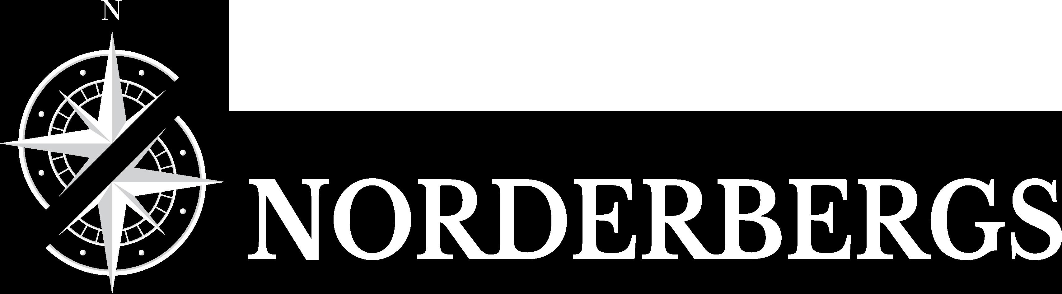 Norderbergs logo white
